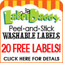 Label Daddy Special! 20 free labels!  50 labels total for $9.95.